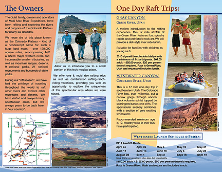 Moki Mac River Expeditions brochure