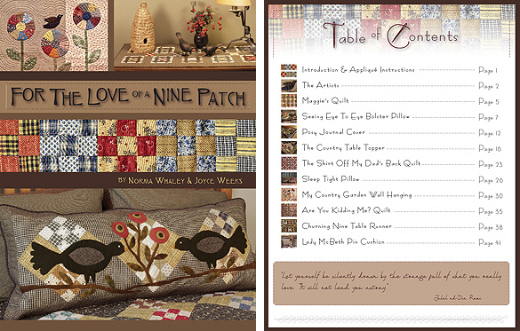 For The Love Of A Nine Patch Quilt Pattern Book